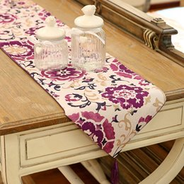 table cloths prices Coupons - Countryside floral printing Table Runner Table Cloth wedding restaurant Home decor Decoration cover 33*200cm 1pcs price 2 color