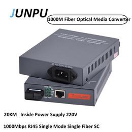 Optische module online-JUNPU 1 Paar (2 stück) 20 KM HTB-4100AB SC 1000 Mt Optischen Transceiver Modul Optical Fiber Media Converter