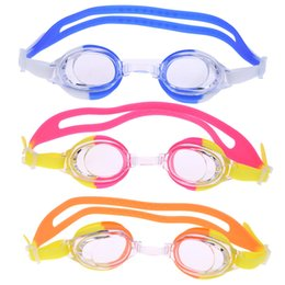 Wholesale Clear Glasses For Kids - High Elasticity Silicone Waterproof Swimming Glasses High Purity Anti-fog Swimming Goggles with Case+Ear Plugs for Kids