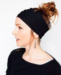 Wholesale American Ornament - European American Women's Headbands Lady Hairband Drape Wide Head Elastic Turban Hair Ornament Headwear Hair Accessories