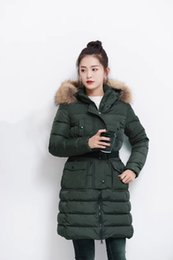 Wholesale Fur Hood Jackets - M449 Ladies parkas for women winter famous jacket anorak women coats with real fur hood parka women jackets