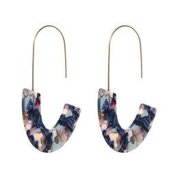 2018 New Acid Acrylic Personally Drop Boucles d'oreilles pour les femmes Bijoux Nouveau Design Imprimer irrégulière géométrie Pendientes Pour Brinco ? partir de fabricateur