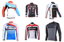 Wholesale Cube Long Sleeve Cycling Top - 2018 pro team CUBE cycling jersey long Sleeves MTB bike maillot ropa Ciclismo men quick dry Bicycle clothing C1705