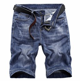 New à Short Jeans Bleu Scratched Hommes Lavé homme manches Droite mode 2019 Newsosoo courtes Fashion qYHCwY4