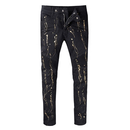 Balmain New Hot Fashion 2018 Graffiti cremalleras ajustadas slim fit para  hombre Distressed black cotton Denim jeans men jeans 6434eb3fc