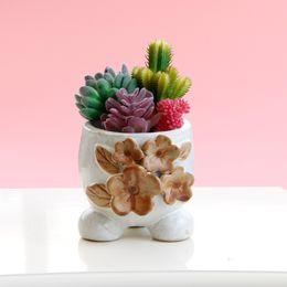 Wholesale Modern Decoration White Vase - 1Pc Flower Vase European Style Flower Ornament Ceramic Home Display  White Art Ceramic Decoration Flower Vase