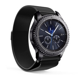 Wholesale magnetic gears - Magnetic Milanese Loop Band Stainless Steel Strap Bracelet for Samsung Smart Watch Gear S3 Classic Frontier 22mm