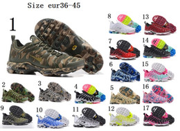 Wholesale Buttons Cushion - Top Quality 2018 Airs Cushion Running Pure Boost Shoes new arrival Camouflage ultra Plus Tn slip Running racer Shoe Vapormax size 36-45
