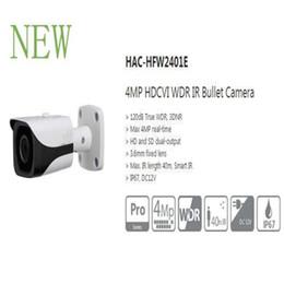 2019 cúpula câmera de segurança metal Frete grátis CCTV Segurança Outdoor Camera 4MP FULL HD HDCVI WDR IR bala Smart Camera IR IP67 Sem Logo HAC-HFW2401E