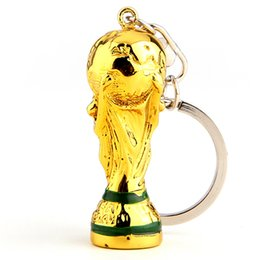 Wholesale Gift Football World Cup - European Champions Cup Keychain 2018 Russia World Cup Hercules Cup Keychain Gold Trophy LOGO Fans Gift Souvenir FIFA Fans Souvenirs