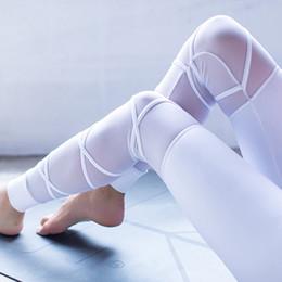 2019 il ballo bianco di yoga ansima Leggings di yoga di alta qualità con fasciatura bianca Leggings di yoga per donne con collant da allenamento Ballet infinito con legging per pantaloni da fitness da danza sconti il ballo bianco di yoga ansima
