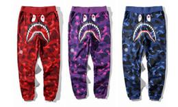 Roupas de camuflagem swag on-line-KANYE west alta qualidade mens bottom calças de basculador camuflagem camuflagem hippie trabalho hip hop tubarão calças swag sweatpants roupas de marca