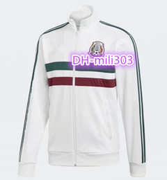 Wholesale H Cup - 2018 2019 Mexico soccer jacket training 18 19 World Cup Mexico G.DOSSANTOS H. HERRERA CHICHARITO soccer long sleeve Jogging jacket Tracksuit