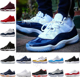 Wholesale Velvet Design - 2018 Gym Red 11 basketball shoes new design cheap sport shoes Velvet Heiress space jam low Barons 72-10 Gym Red Bred Wheat sneaker athletic