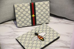 Wholesale Luxury Leather Ipad Mini Cover - Luxury Grid Embroidery Flip Leather Tablet case for iPad 2 3 4 5 6 IPAD mini 1 2 3 ipad mini4 with stand shockproof Dormancy Cover cases