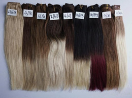 "Wholesale indian remy hair clip ins - Straight Body Wave 18"" 20"" 22"" Remy Clip in Human Hair Extensions Ombre Full Head 10pcs 120g 140g Cip ins 10 Colors Available"