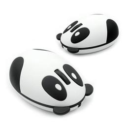 2019 nouveaux ordinateurs portables en gros Souris optique ergonomique sans fil de souris de forme de panda de 2.4GHz pour l'ordinateur portable d'ordinateur portable