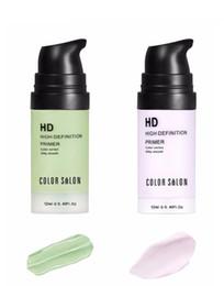 grünes make-up Rabatt Color Salon Gesichtspflege Corrector Primer 12ml grünviolett Einfach zu absorbierende, glatte Make-up-Basis-Gesichtscreme