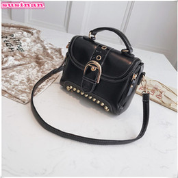 Susinan fashion rivets crossbody bag women flap belt decoration handbags  for women 2018 shoulder bags for girls selling 5z 195eafcce5dd3