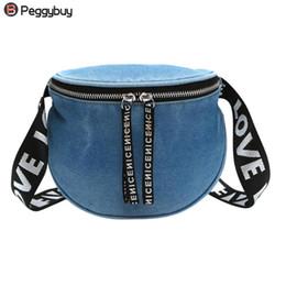 9f0caf4d8f175 2018 Brand Fanny Pack for Women Waist Bag Belt Denim Waist Pack Money Phone  Chest Shoulder Bags Travel Zipper Pouch Feminina