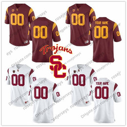 cee5544ca35 NCAA USC Trojans #18 JT Daniels 10 Jack Sears 19 Matt Fink 21 Tyler Vaughns  6 Michael Pittman White Red College Football Jerseys