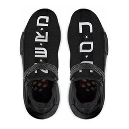 Wholesale Golf D - Authentic NMD Trail Human Race HU Pharrell NERD Black White Running Shoes Sneakers Y O U N E R D Sports Shoes BB7603 With Box