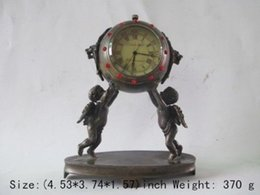 Wholesale Watch Rare - Christmas Gift Rare ancient copper can use mechanical clock timer angel watches and clocks