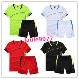 Wholesale men exercise clothes - Men Running Suit Short Sleeve kits Basketball Training Tracksuit Quick Dry Loose T-shirt Sports Gym Fitness Exercise Clothing