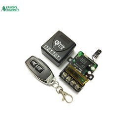 Wholesale Pump Switches - 433Mhz Universal Wireless RF Remote Control Switch AC 220V 1CH 30A Relay Receiver and 2 channel 433 Mhz Remote For Water pump