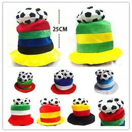 Wholesale Hat World Cup - 2018 Russia World Cup Football Caps Hats Football Fans Headwear Cheerleading Team Props Headwear