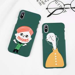 Wholesale Character Phone Cases - Cartoon Character THANKS Letter Pattern Phone Cases For iX 8 7 6 6S Plus Capa Fashion Hard PC Cover Back Case Capa