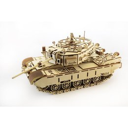 Wholesale Military Tank Toys - Diy wooden manual assembling and assembling tank model building block boy boy puzzle puzzle insert toy Military equipment model toy
