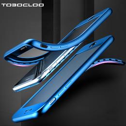 Custodia trasparente anteriore del iphone online-360 Full body Front + Back Cover in TPU trasparente Cover in gel trasparente per Apple iPhone 5 5s SE 6 6s 6Plus 6s 7 8 Plus X Case