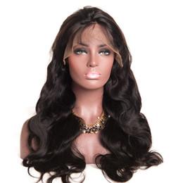 Peluca ondulada sin cola online-8A Pelucas llenas del cordón del pelo humano del cordón para las mujeres negras Pelucas brasileñas Top de seda Ondulado sin cola Frente del cordón Pelucas de cabello humano