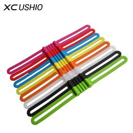 Wholesale pc torch - 3 PCS  Pack High Stretch Bike Front Light Holder Silicone Strap Bicycle Handlebar Fixing Torch Bands Elastic Bandage
