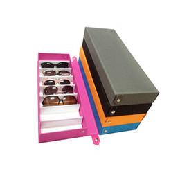 Wholesale Drawer Storage - Sunglasses Box Double Layer 8 Slots Eyeglass Gift Storage Organizer Eyewear Drawer Box Collector, Sunglasses Storage Box