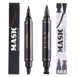 Handaiyan Brand Black Double-headed Eyeliner Pencil With Miss Stamp Seal Maquiagem Waterproof Wing Eye Liner Cosmetics Beauty Essentials Back To Search Resultsbeauty & Health