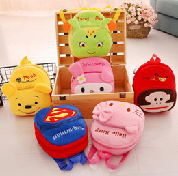 Wholesale Cute Small Boys - kids Cartoon backpack kindergarten girls boys children backpack school bags cute animals smaller baby plush shoulder bags