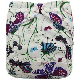 Защелка онлайн-Baby Cloth Diapers  Washable Reusable Dipaers Fied for Baby Girls and Boys Adjustable Snap One Size Cloth Pocket Diapers