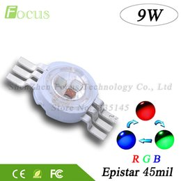Wholesale Auto Watts - 10pcs lot High Power LED Chip 9W RGB LED COB Beads 3 Watt Red Green Blue6 pin Full Color For DIY Professional Stage Light