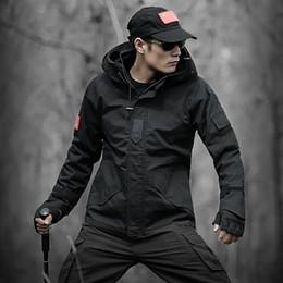 Trajes de combate negro online-LANGSHI outdoor ejército del desierto del desierto conjunto de camuflaje Python conjunto masculino fuerzas especiales ropa de combate uniforme negro
