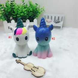 Wholesale Kids Squeeze Toy - Galaxy Unicorn Squishy Horse Slow Rising Squeeze Jumbo Phone Charms Soft Decompression Toys Kids Gift Novelty Items OOA4993