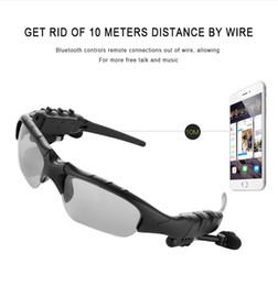 Беспроводные солнцезащитные очки онлайн-В4.1 беспроводная связь Bluetooth на открытом воздухе очки Солнцезащитные очки стерео гарнитура наушники Наушники для смарт-телефон 1шт/много