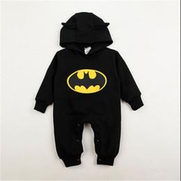 2019 felpe con cappuccio 2019 INS Hot Winter Kids Carino Batman Cotton Clothes Neonato Ragazzi Ragazze One Pieces Pagliaccetti manica lunga Moda
