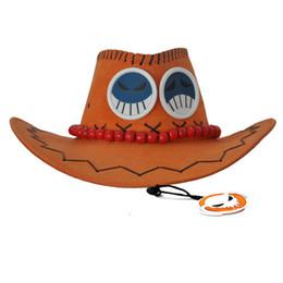 Um pedaço de portgas on-line-Um pedaço de fogo Portgas D Ace Cosplay Cowboy Hat