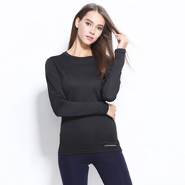 Wholesale Stretch Sport T Shirts - yoga Outfits running fitness sets black Outdoor sports large size quick-drying long-sleeved T-shirt breathable quick-drying stretch cloths