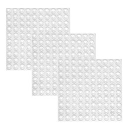 Wholesale Clear Boutique - Practical Boutique 300 Pieces Clear Rubber Feet Adhesive Door Bumpers Pads Sound Dampening Cabinet Buffer Pads, 8.5 by 2.5 mm