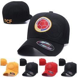 Wholesale men s hip hop - Top yakuda 's store men Colombia FCF football SNAPBACK Elastic caps hats,Fashion MENS Baseball cap hip-hop cap hat Casual Lifestyle Hats Hat