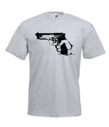 Wholesale HAND GUN gamer jeu armée tee tee shirt idée de cadeau d anniversaire de noël mens Womens T SHIRT TOP