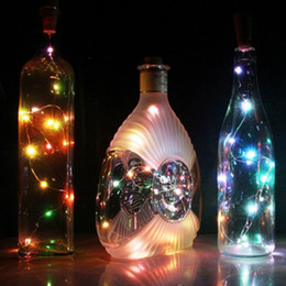 Wholesale Wine Bottles For Sale Wholesale - 2017 Hot Sale 20 LED Chic Cork Shaped Night Starry Light Wine Bottle Lamp For Xmas Decor Cool